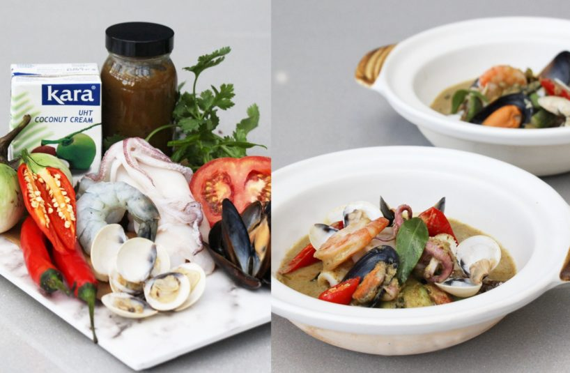Green Curry Seafood Pot